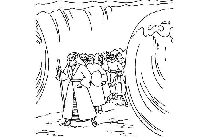 Moses Crossing Red Sea Clip Art.