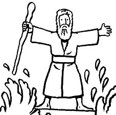 moses, prophet, part, red sea.