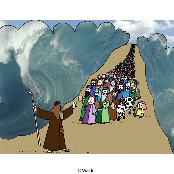 Exodus from Egypt: Jews Crossing the Red Sea.