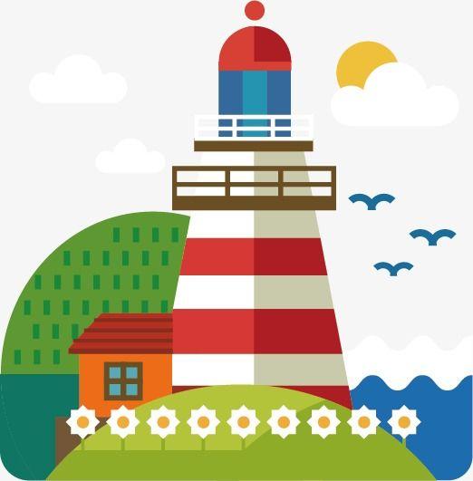 Creative Cartoon Lighthouse.