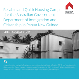 Housing Camp for the Australian Government.