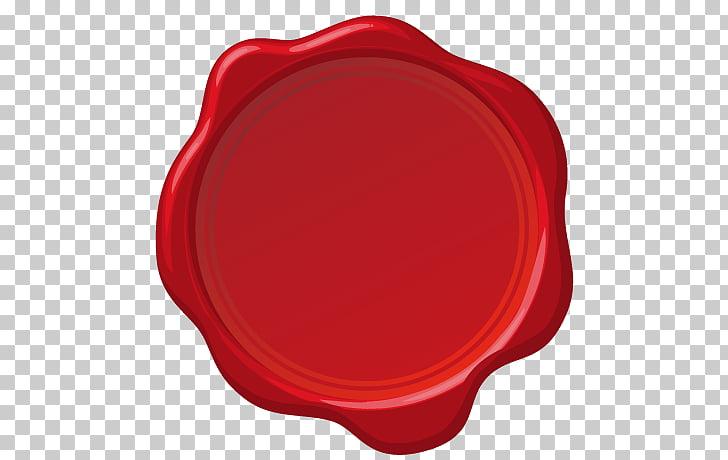 Sealing wax Stamp seal, red stamp, round card seal PNG.