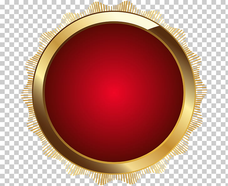 Brown Maroon Circle, red seal PNG clipart.