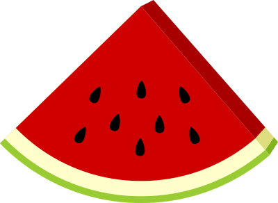 Watermelon no seeds clipart.