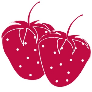 Strawberry Seeds Clipart Image.