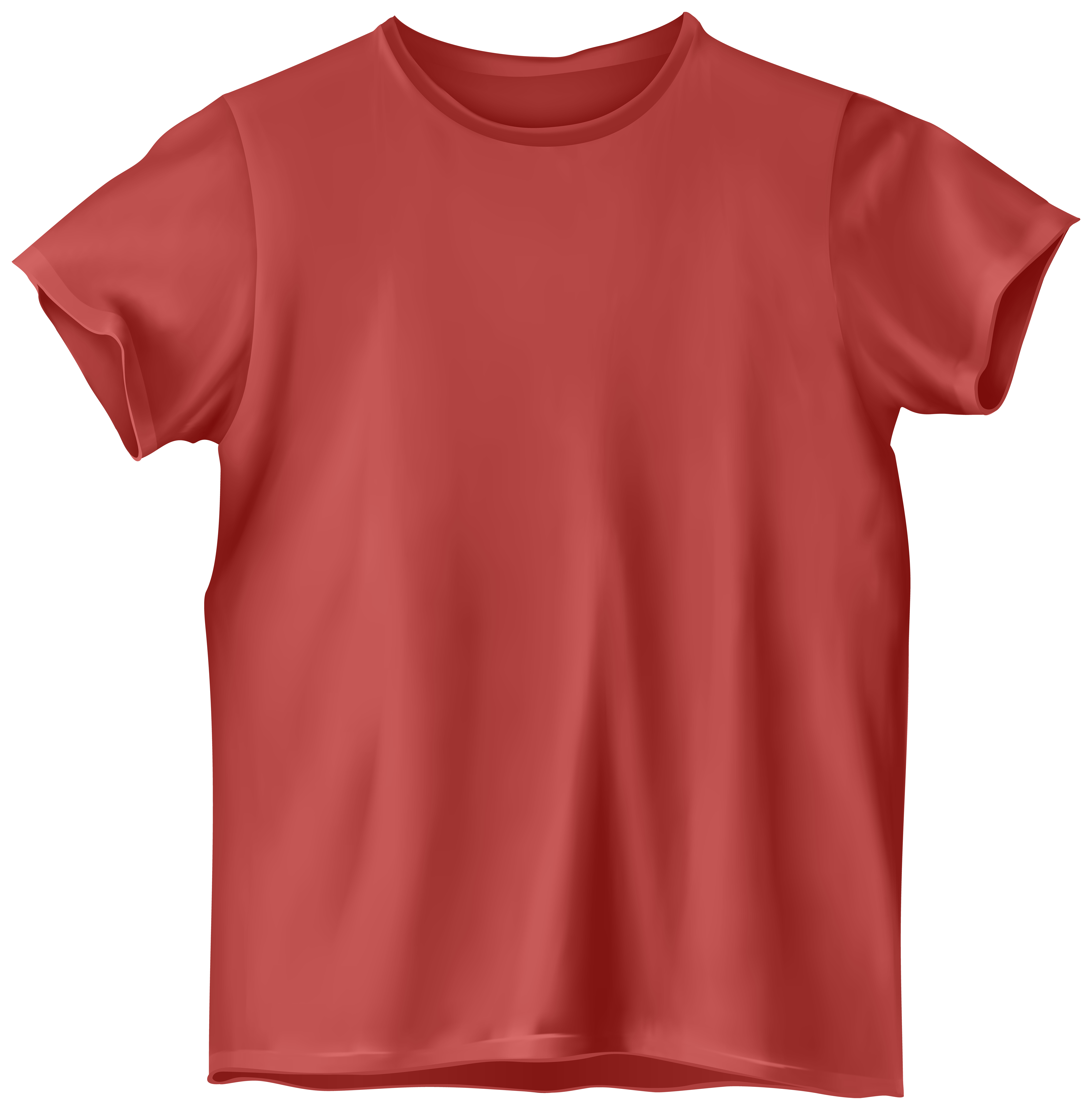 Red T Shirt PNG Clip Art.