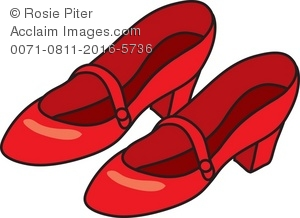 Royalty Free Clipart Illustration of Red Shoes.