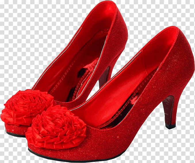 Red Shoes, pair of red flower.