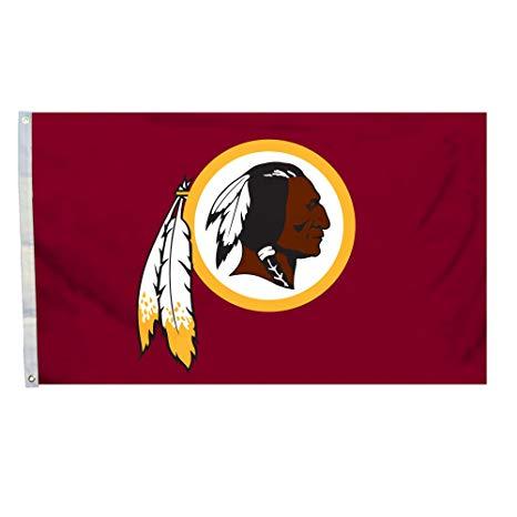 NFL Washington Redskins Logo Flag with Grommets, 3 x 5.