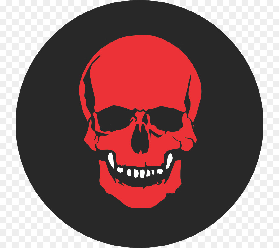 Red Skull clipart.