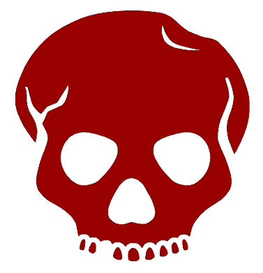 Red Skull And Crossbones free clipart.