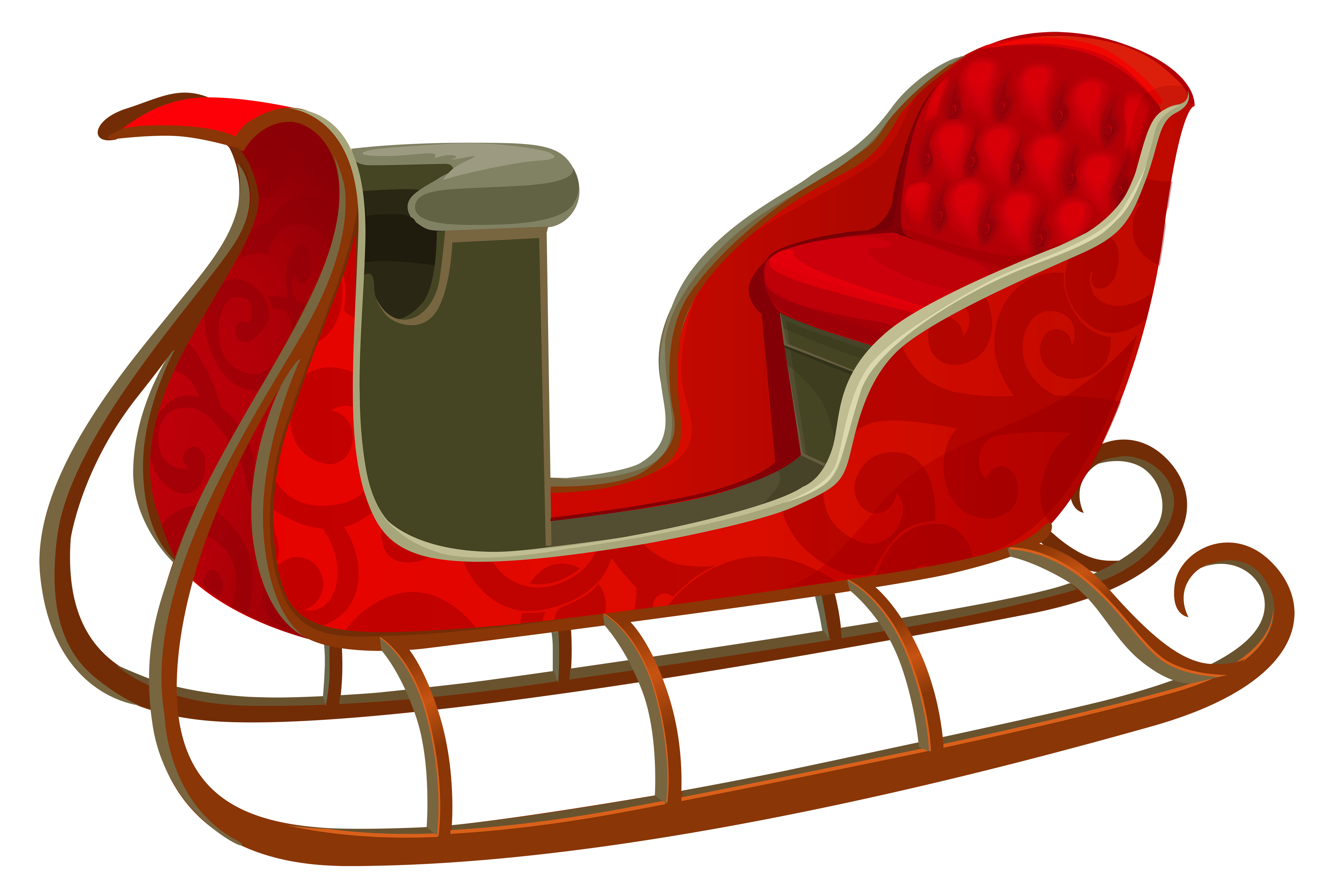 Christmas Red Sled PNG Picture.