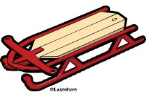 Red sled clipart » Clipart Portal.
