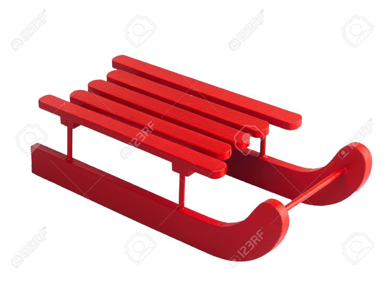 Wooden red sled » Clipart Portal.