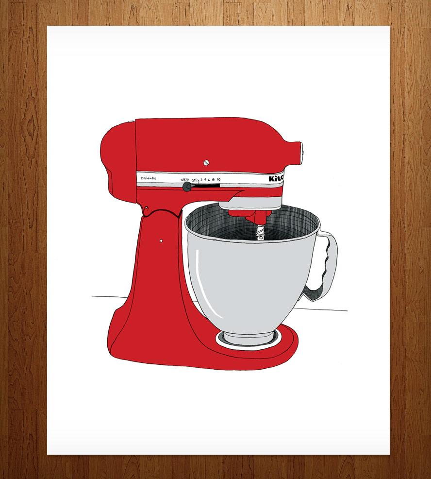 Kitchen Aid Mixer Print.