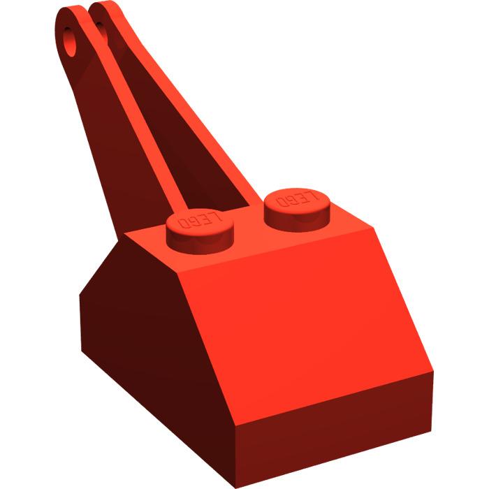 LEGO Red Slope 45° 2 x 3 x 1 & 1/3 Double Crane (3135).