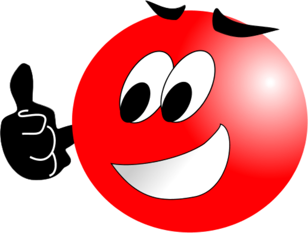Red Smiley Face Clip Art (20 ).