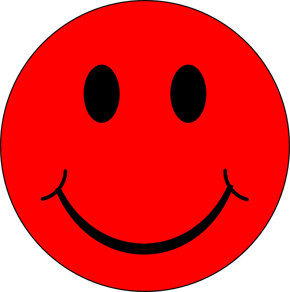 Red Smiley Face Clip Art N2 free image.