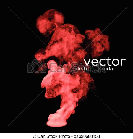 Red smoke clipart #14