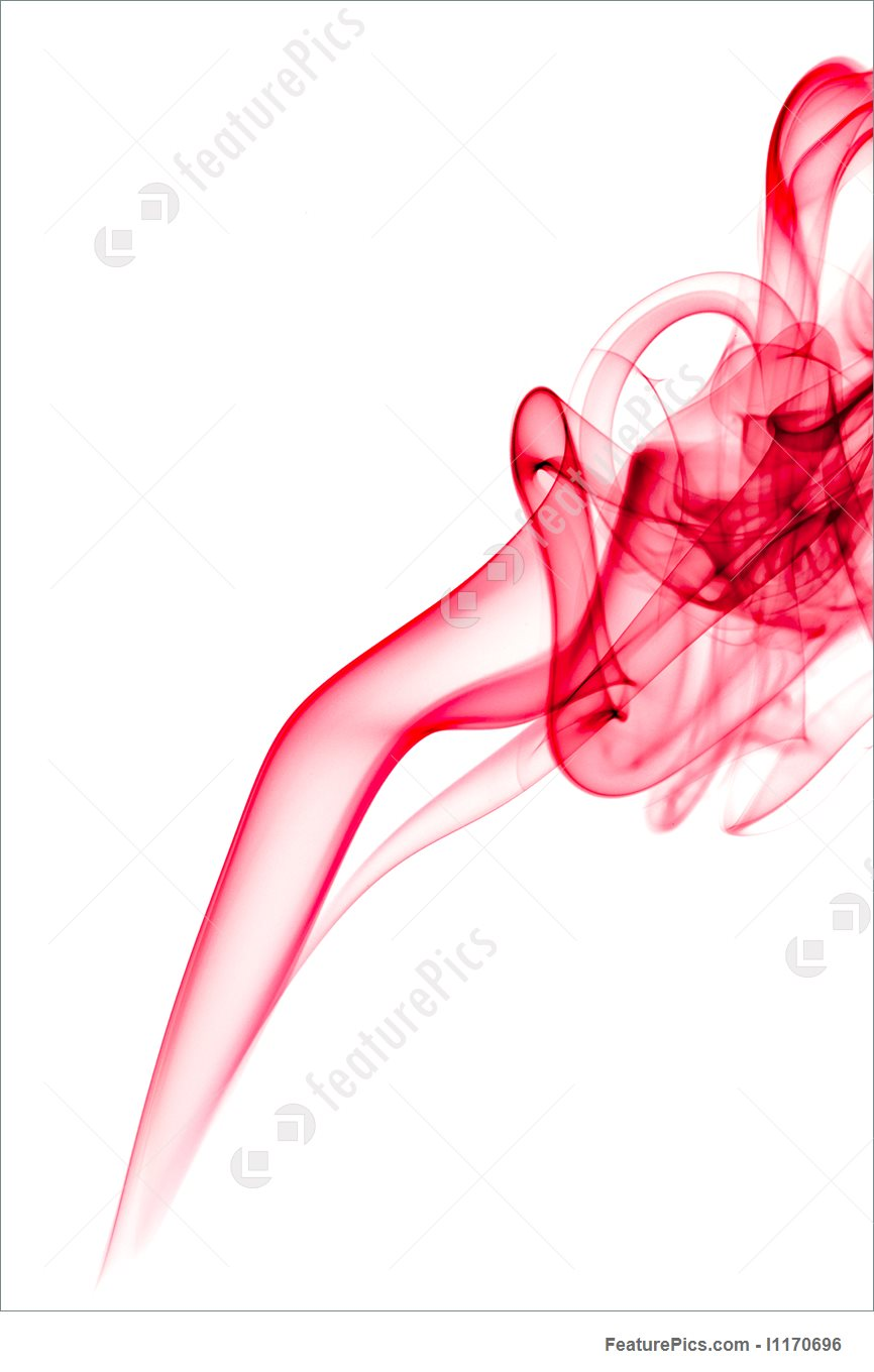Texture: Red Smoke Against White Background.