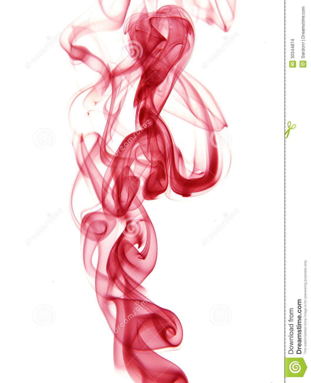 Red smoke clipart #10
