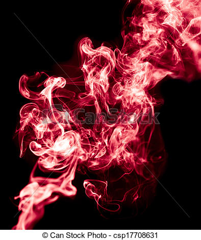 Smoke clipart on black background.