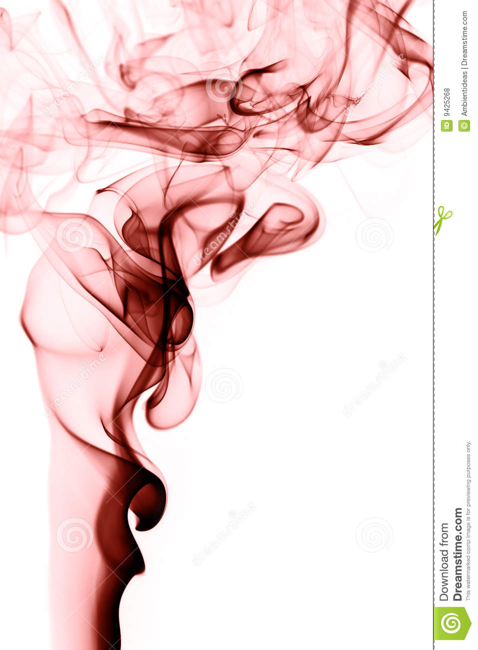 Red Smoke Rising On White Royalty Free Stock Photos.