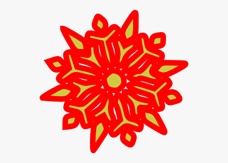 Snowflake Clipart Red , Transparent Cartoon, Free Cliparts.