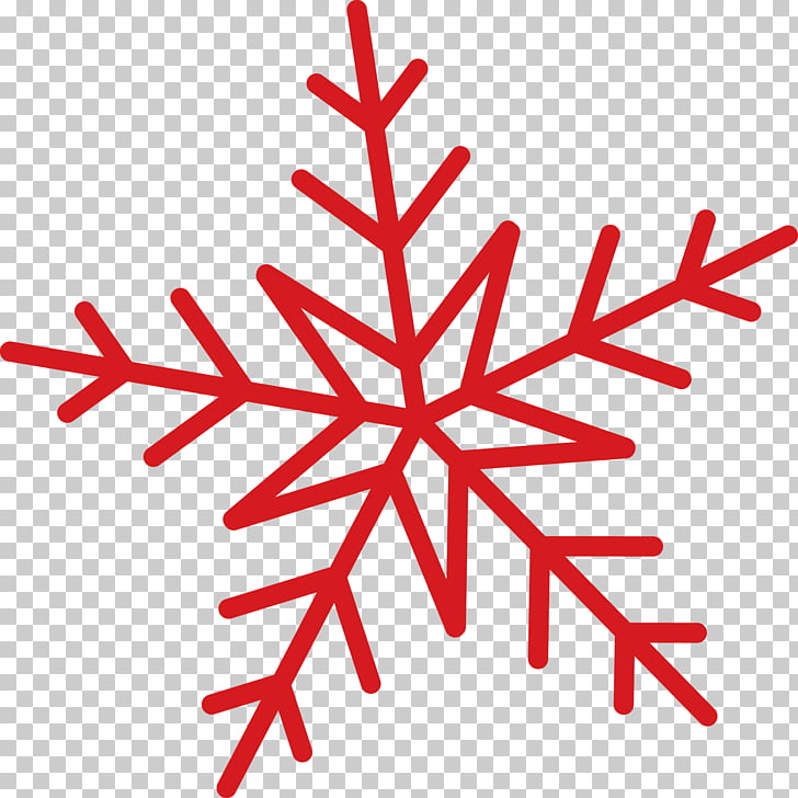 Snowflake Printing Sticker, Red Snow PNG clipart.