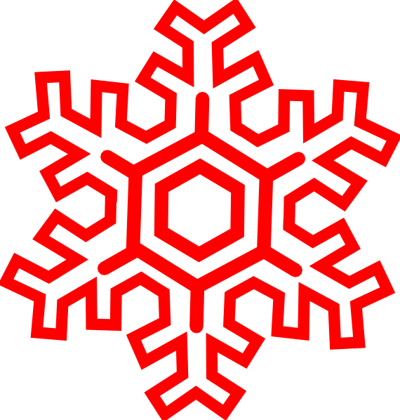 Red Snowflake Clip Art At Clker Com Vector Online Special.