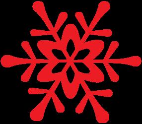 WINTER RED SNOWFLAKE CLIP ART.