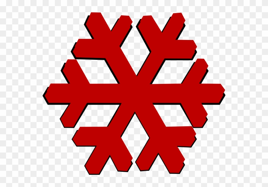 Red Snowflakes Vector Png Clipart (#3971252).