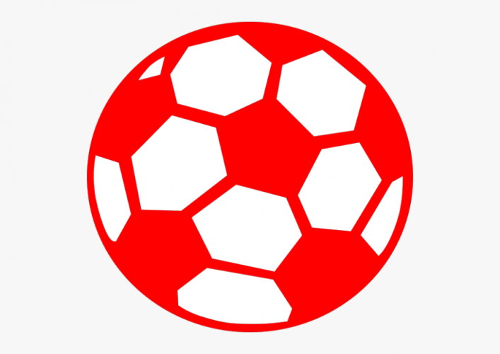 Soccer Ball Clipart Red.