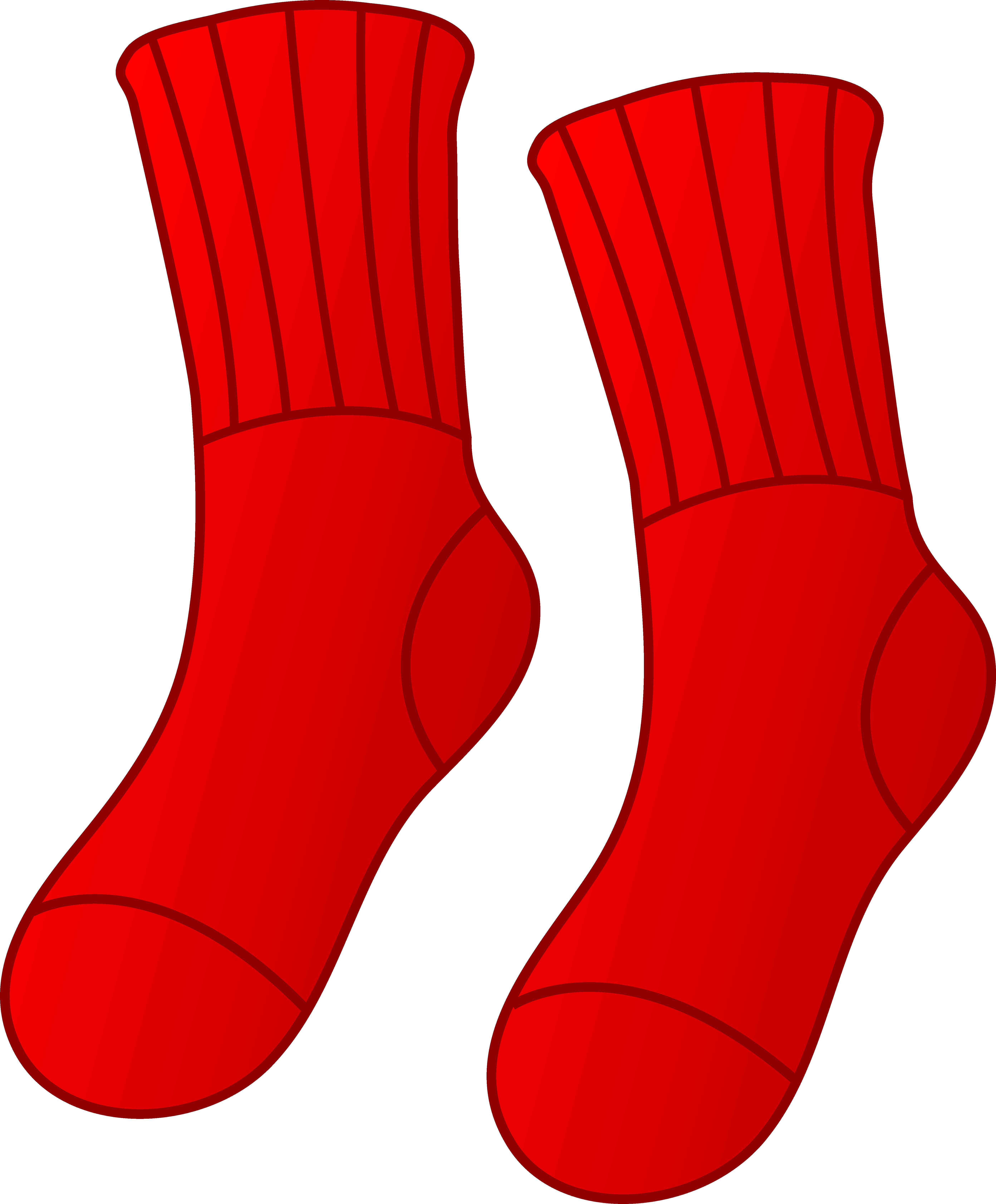 Red socks clip art.
