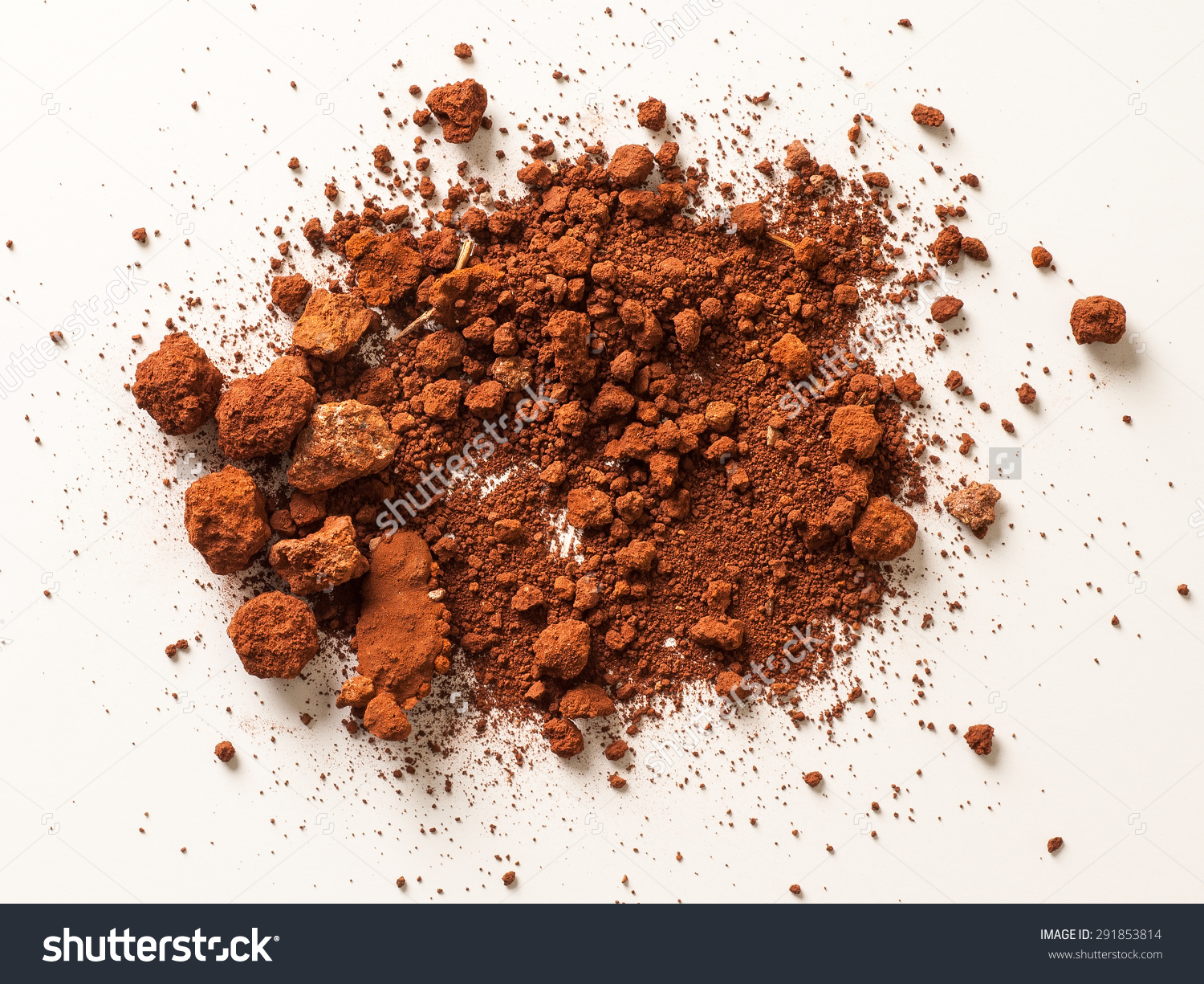 Red Soil Isolated On White Background Stock Photo 291853814.