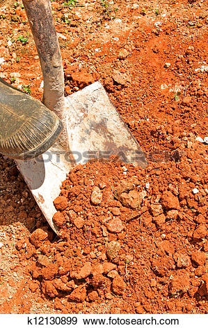 Stock Photograph of red soil k12130899.