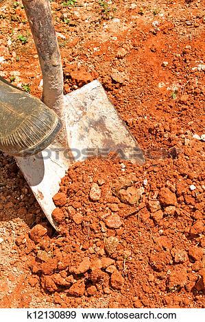 Stock Photograph of red soil k12130899.
