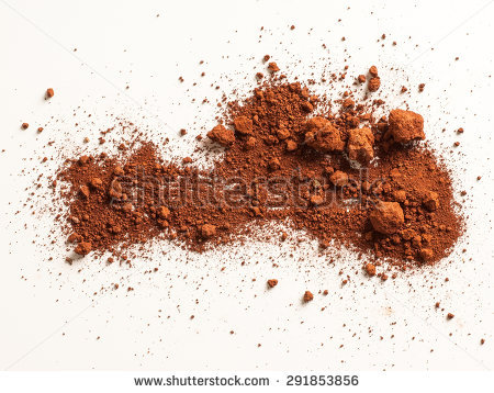 Red Soil Isolated On White Background Stock Photo 291853856.