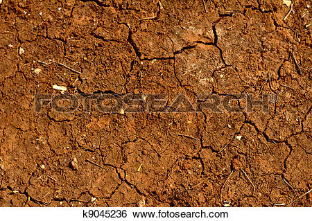 Stock Images of Drought in the South of Italy. Dry red soil.