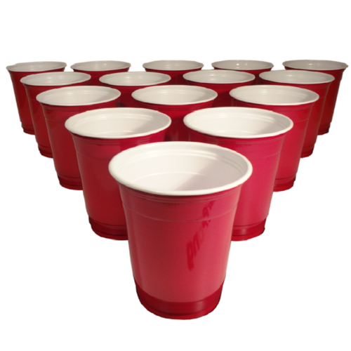 Beer Pong Red Plastic Cups 20pc.