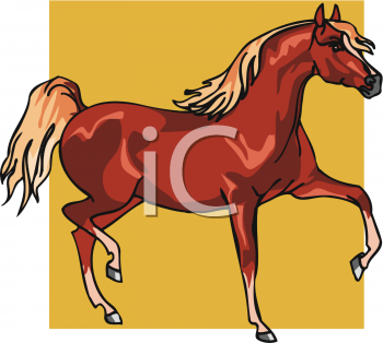 Clipart Picture of an Arabian Horse.