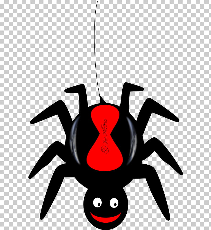 Redback spider Cartoon , red back spider PNG clipart.