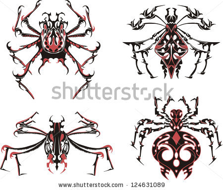 Two Red Craw Fish Vector Lobster Stock Vector 279801854.