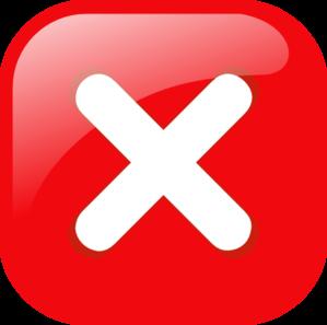 Red Square Error Warning Icon Clip Art at Clker.com.