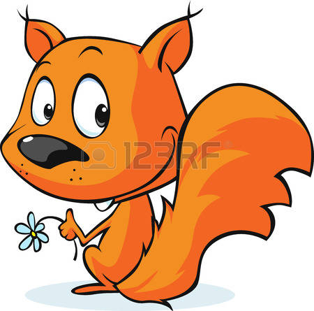 Clipart of cute red squirrels.