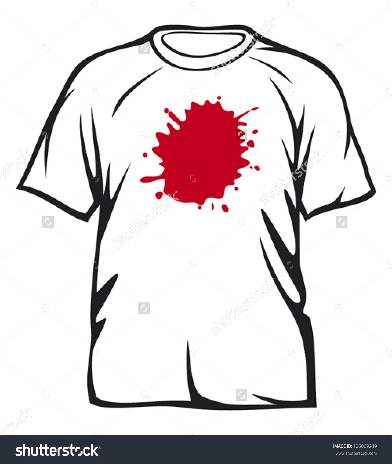 Stain On Shirt Clipart.