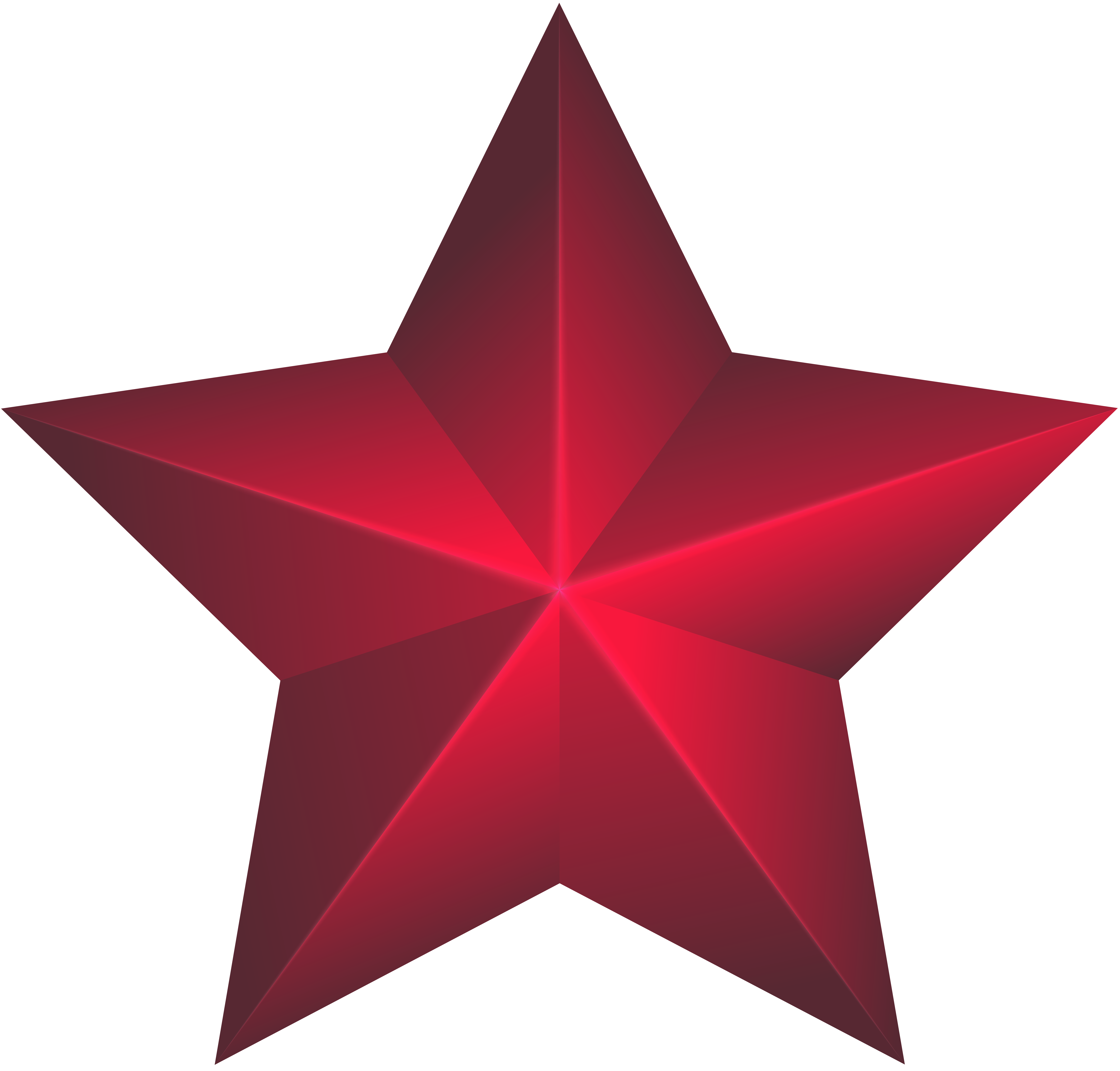 Red Star PNG Clip Art Image.
