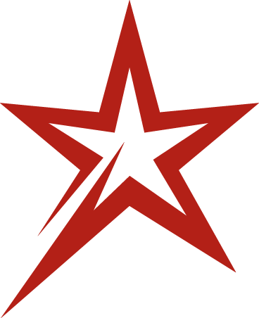Red Star Transparent PNG Background Free Download.