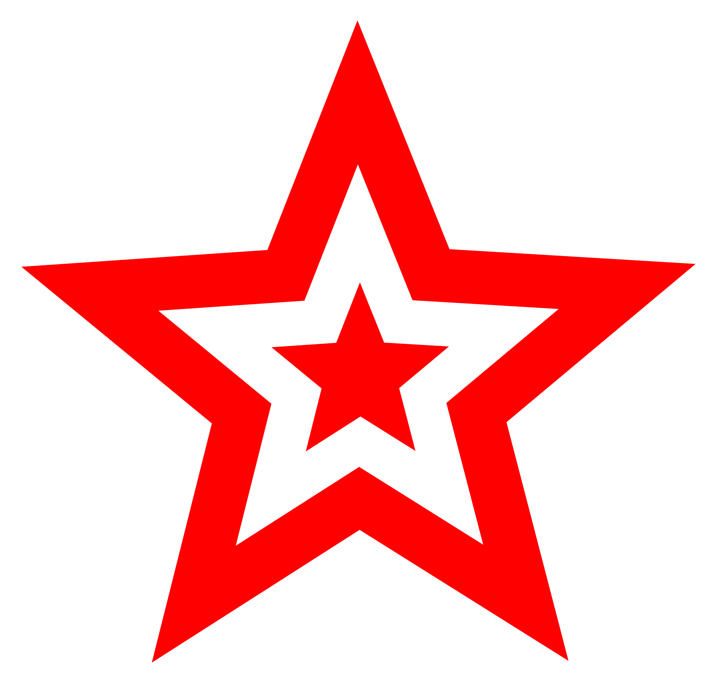 White and Red Star Logo.