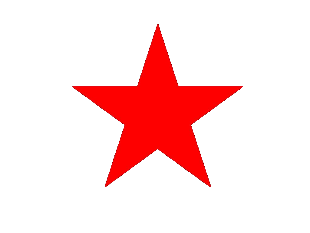 Red Star PNG Image.